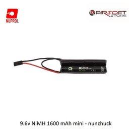NUPROL Battery Nuprol NiMH 9.6V 1600mah mini - nunchuck