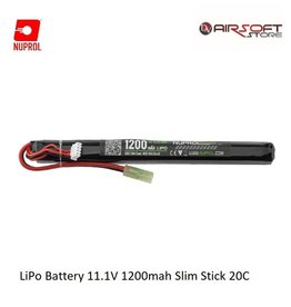 NUPROL LiPo Battery 11.1V 1200mah Slim Stick 20C
