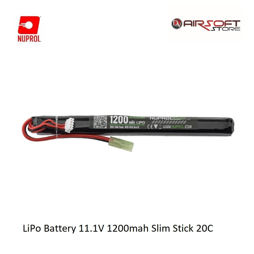 NUPROL LiPo Battery 11.1V 1200mah Slim Stick 20C
