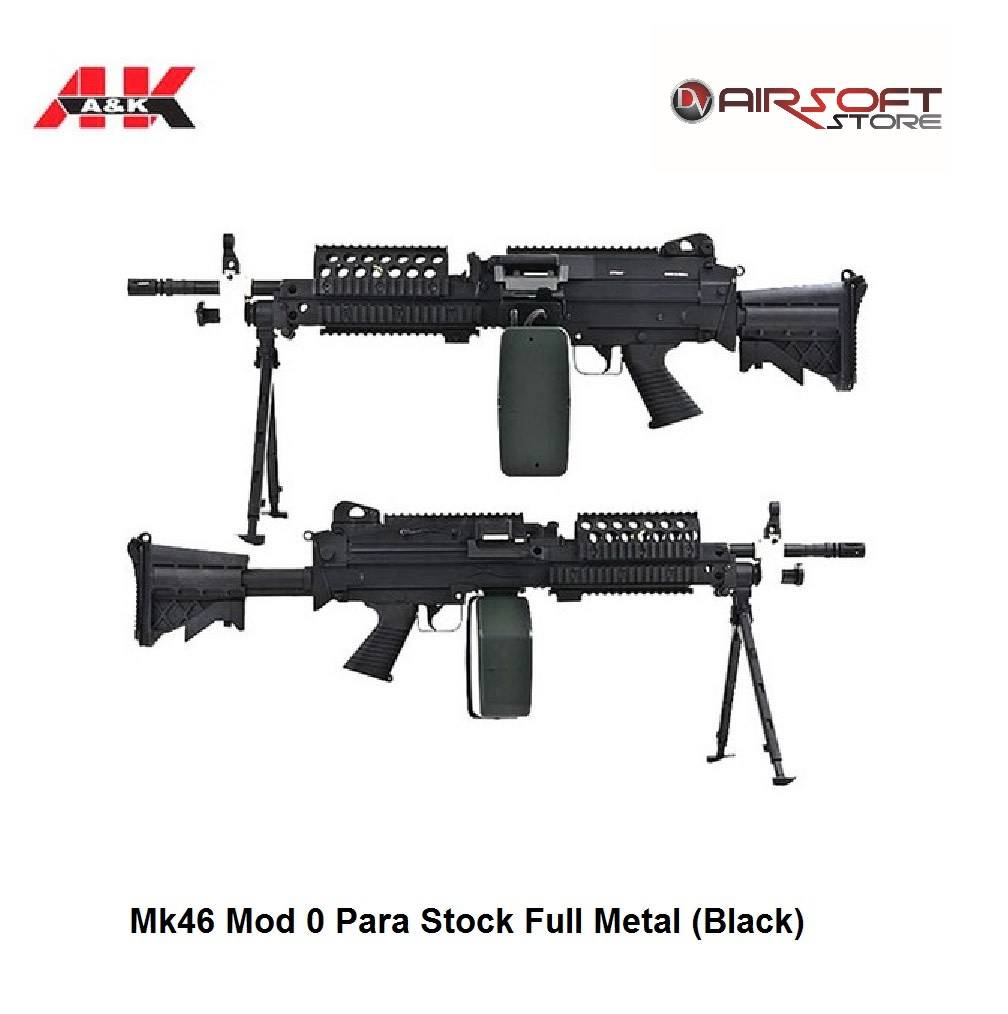 A&K Mk46 Mod 0 Para Stock Full Metal (Black)