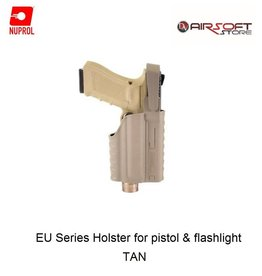 NUPROL Glock Series Holster for pistol with flashlight - TAN