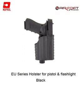 NUPROL Glock Series Holster for pistol with flashlight - BK