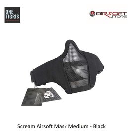 One Tigris Scream Airsoft Mask Medium - Black
