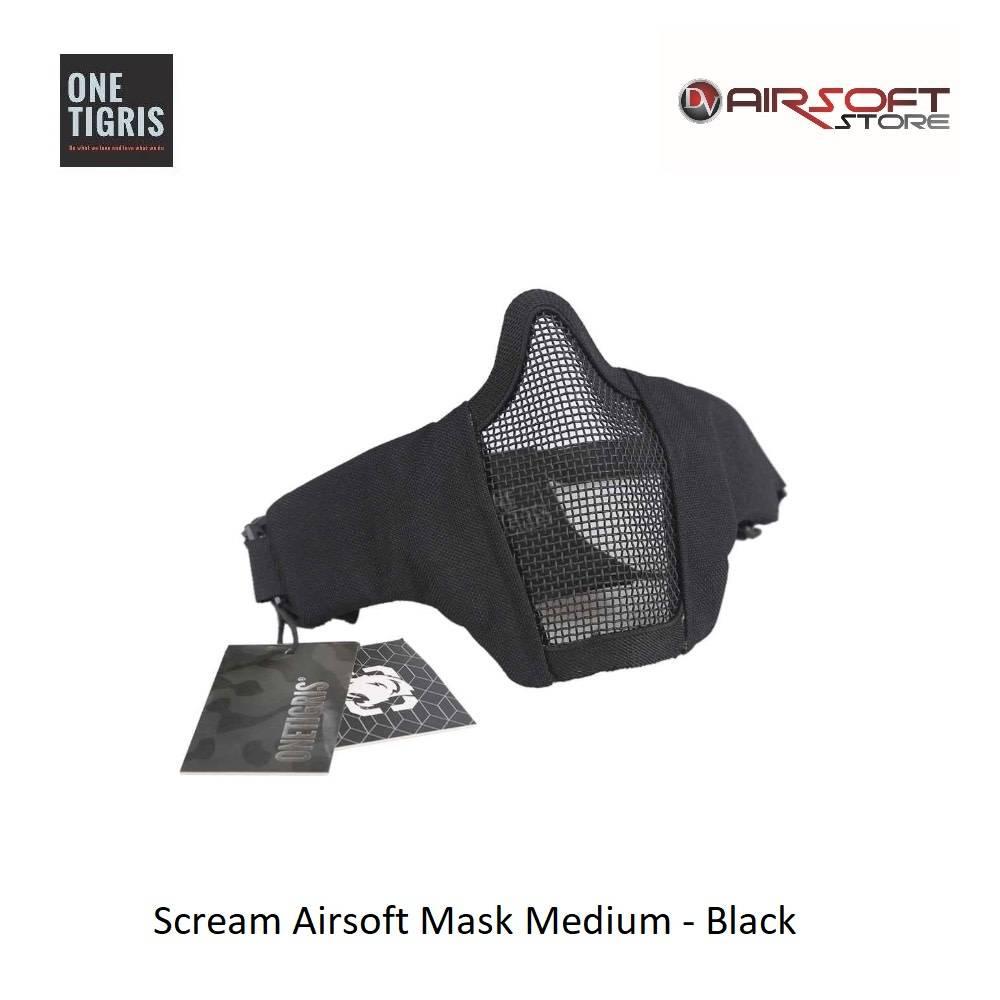 One Tigris Scream Airsoft Mask Medium - Black