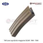 Tokyo Marui TM Low cap 82rds magazine SCAR - M4 - TAN