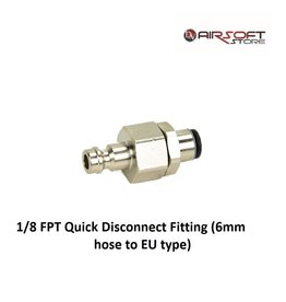 Partool 1/8 FPT Quick Disconnect Fitting (6mm hose to EU type)
