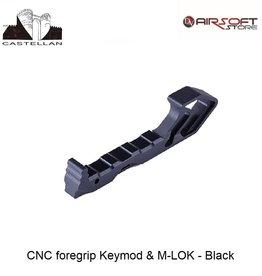 Castellan CNC foregrip Keymod & M-LOK - Black
