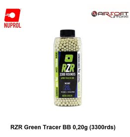 NUPROL 0.20g RZR Green Tracer BB (3300rds)