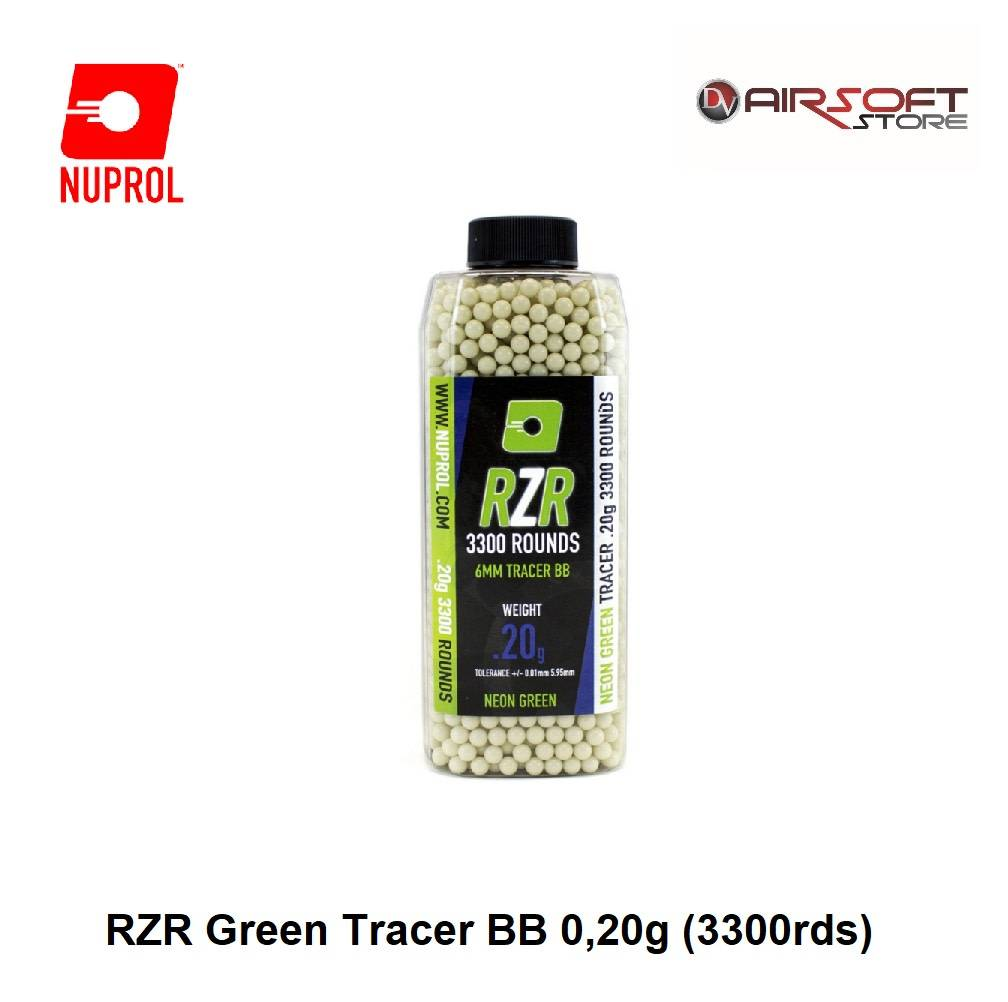 NUPROL RZR Green Tracer BB 0,20g (3300rds)