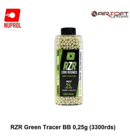 NUPROL 0.25g RZR Green Tracer BB (3300rds)