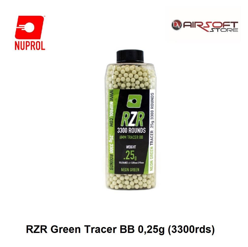 NUPROL RZR Green Tracer BB 0,25g (3300rds)