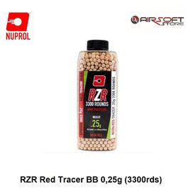 NUPROL 0.25g RZR Red Tracer BB (3300rds)