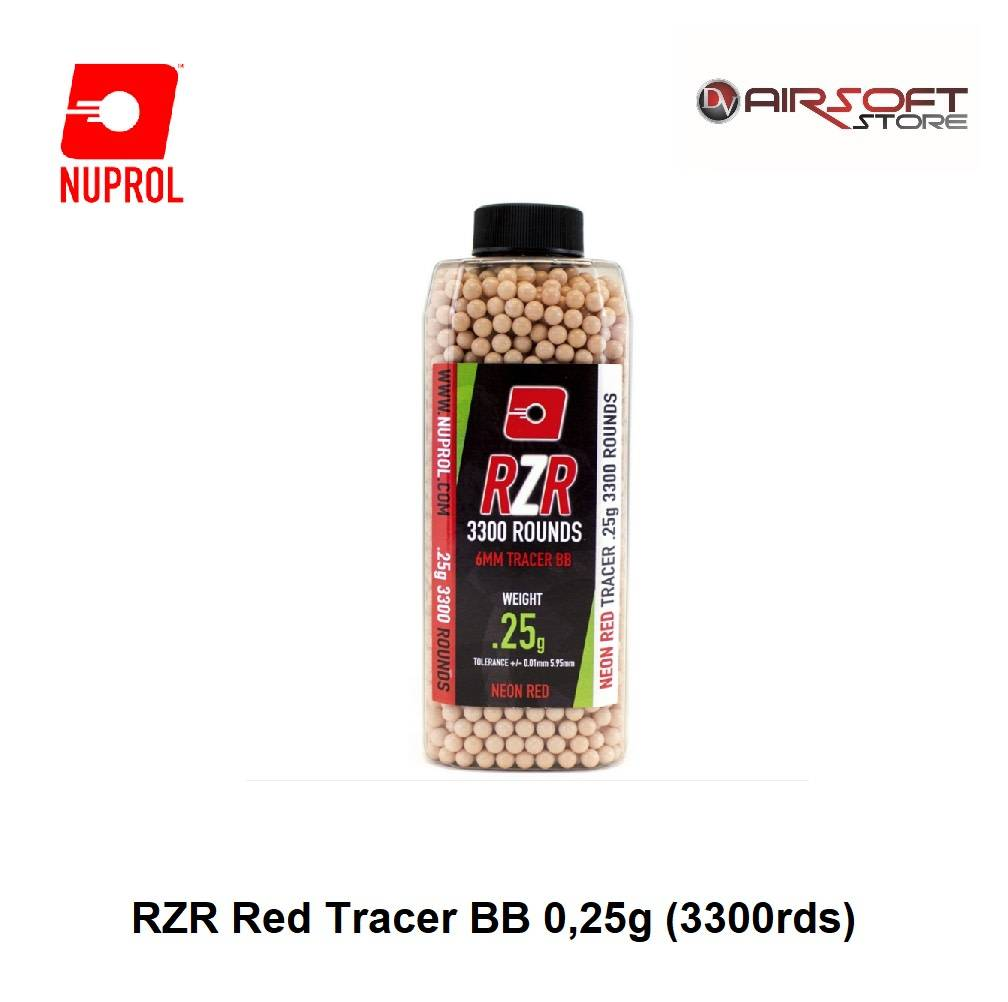NUPROL RZR Red Tracer BB 0,25g (3300rds)
