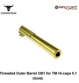 CowCow Threaded Outer Barrel OB1 for TM Hi-capa 5.1 (Gold) .40 marking