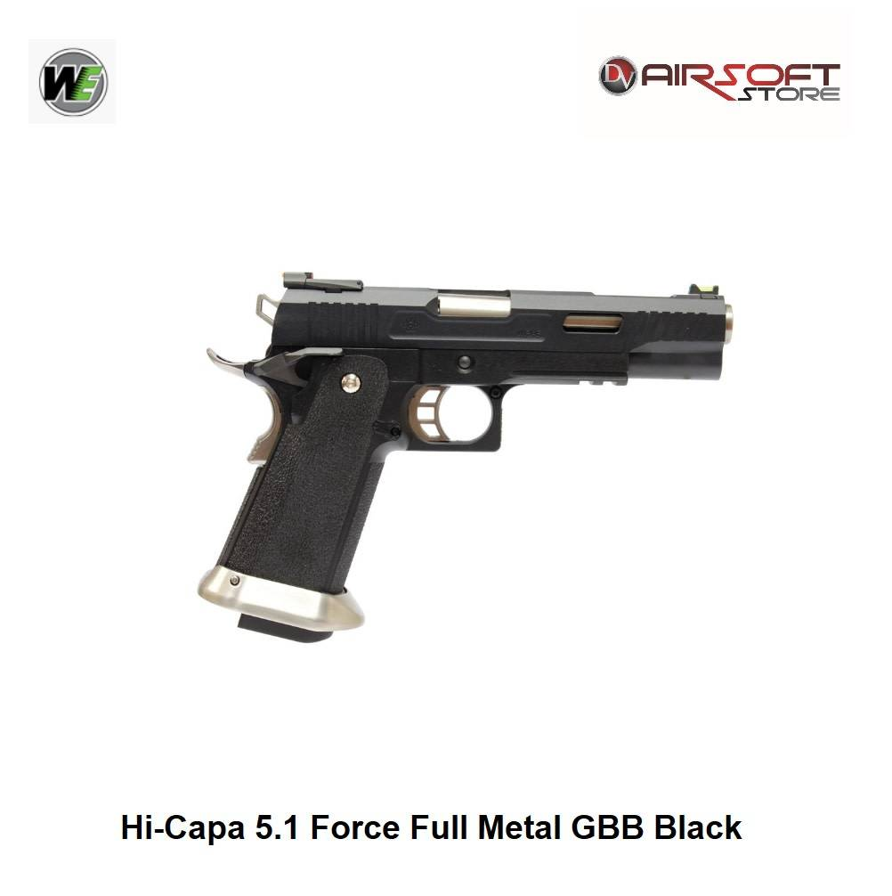 WE Europe Hi-Capa 5.1 G-Force TREX GBB - Black