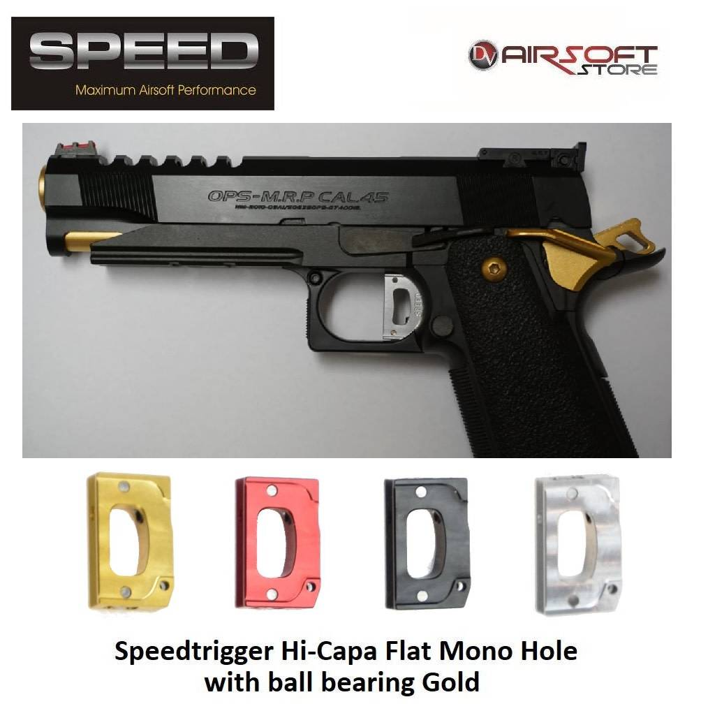 Speed Airsoft TM Hi-Capa ball bearing trigger Mono Hole (flat)