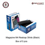 G&G Magazine M4 Realcap 30rds (Black) - box of 5