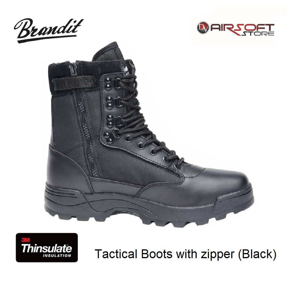 Tactical Boots with zipper (Black)