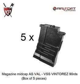 King Arms Magazine midcap AS VAL - VSS VINTOREZ 90rds (box of 5)