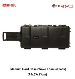 NUPROL Medium Hard Case (Wave Foam) (Black)