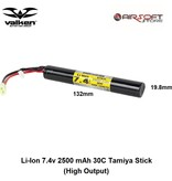 VALKEN Li-Ion 7.4v 2500 mAh 30C Tamiya Stick (High Output)