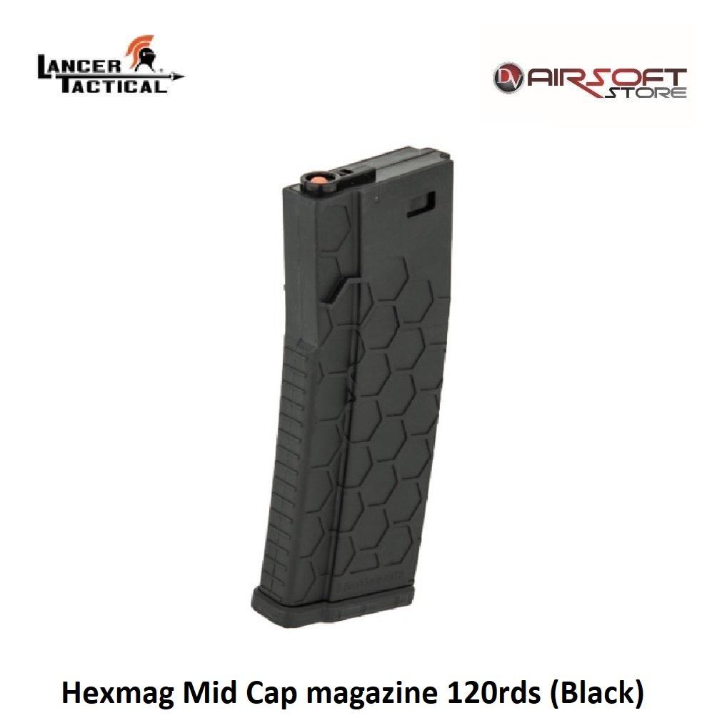 Lancer Tactical Hexmag Mid Cap magazine 120rds (Black)