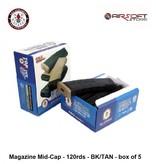 G&G G&G Magazine Mid-Cap - 120rds - BK/TAN - box of 5