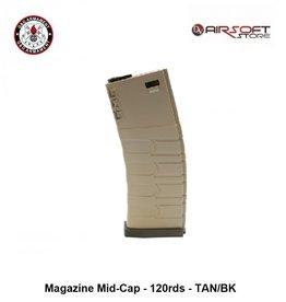 G&G G&G Magazine Mid-Cap - 120rds - TAN/BK