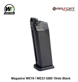 WE Europe Magazine WE19 / WE23 GBB 19rds Black