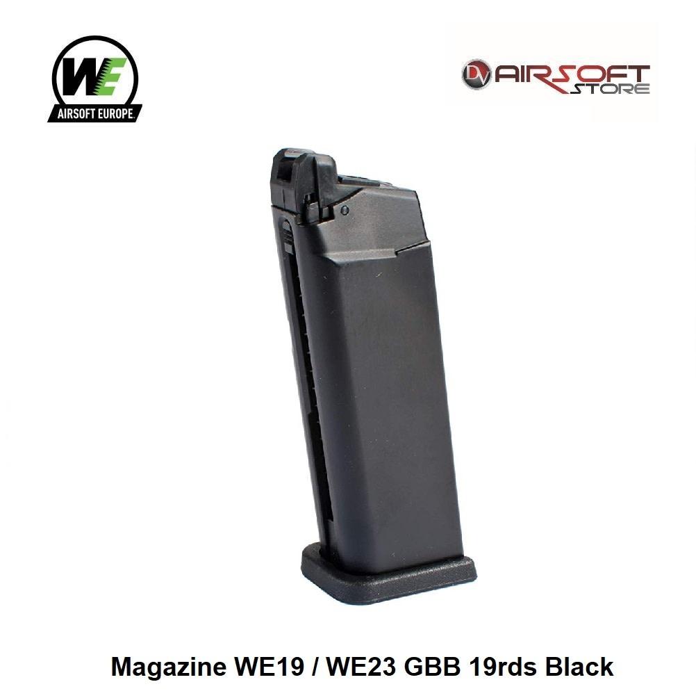 WE Europe Magazine WE19 / WE23 GBB 19rds Black