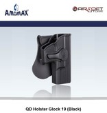 Amomax QD Holster Glock 19 - 23 - 32 (Black)