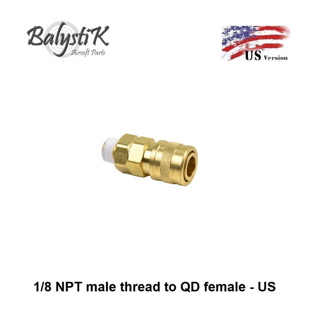 Balystik 1/8 NPT male thread to QD female - US
