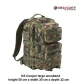 Brandit US Cooper large backpack (woodland)