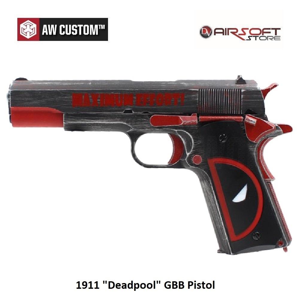 """Armorer Works 1911 """"Deadpool"""" GBB Pistol"""