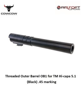 CowCow Threaded Outer Barrel OB1 for TM Hi-capa 5.1 (Black) .45 marking