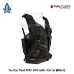 UTG Tactical Vest SPEC OPS with Holster (Black) left handed