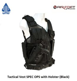 UTG Tactical Vest SPEC OPS with Holster (Black) left handed