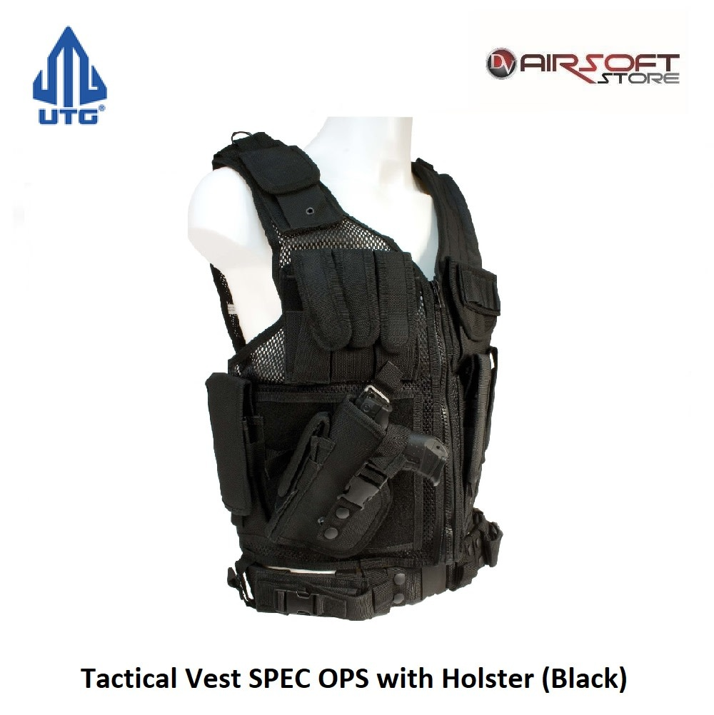 UTG Tactical Vest SPEC OPS with Holster (Black)
