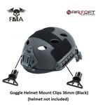 FMA Goggle Helmet Mount Clips 36mm (Black)