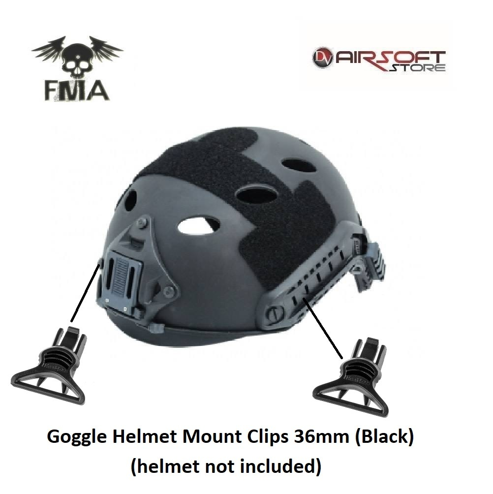 FMA Goggle Helmet Mount Clips 36mm (Black)
