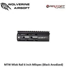 Wolverine MTW Mlok Rail 6 inch Milspec (Black Anodized)