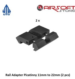 UTG Rail Adapter Picatinny 11mm to 22mm (2 pcs)