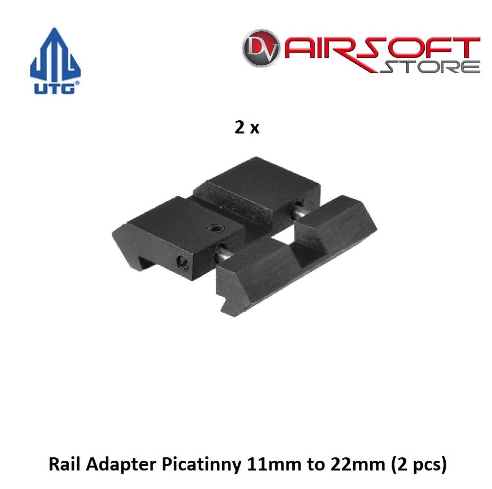 UTG Rail Adapter Picatinny 11mm to 22mm (2 pcs)