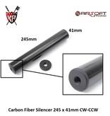 King Arms Carbon Fiber Silencer 245 x 41mm CW-CCW