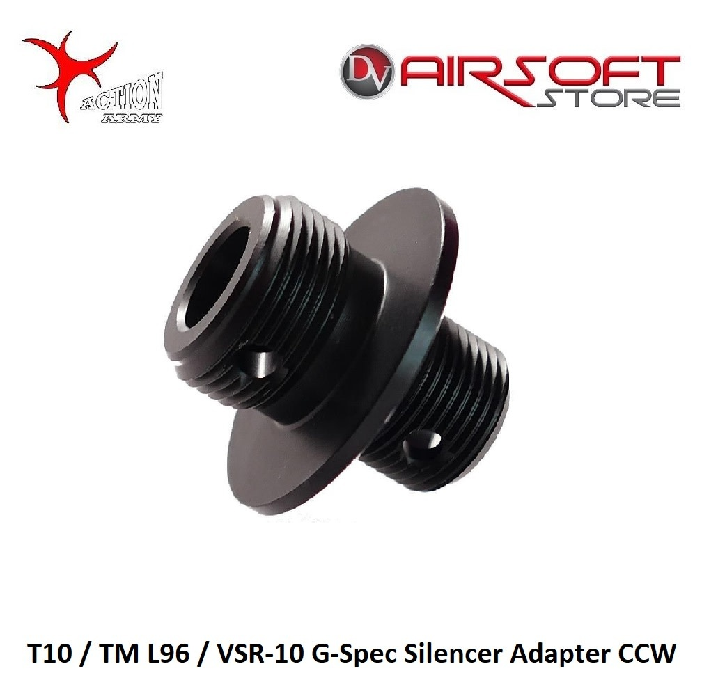 Action Army T10 / TM L96 / VSR-10 G-Spec Silencer Adapter CCW