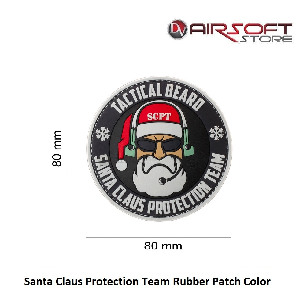 Santa Claus Protection Team Rubber Patch Color