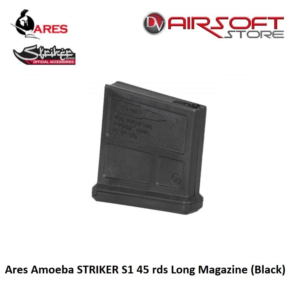 Ares Amoeba STRIKER S1 45 rds Long Magazine (Black)