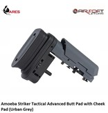 Ares Amoeba Striker Tactical Advanced Butt Pad with Cheek Pad (Urban Grey)