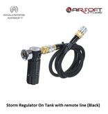 Wolverine Storm Regulator On Tank with remote line (Black)