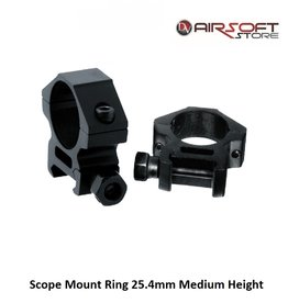 RTI Scope Mount Ring 25.4mm Medium Height